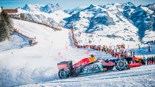 Background Max Verstappen F1 Snow Demo Red Bull RB7 Hahnenkamm, Kitzbühel, 14/01/2016