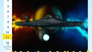 How to Draw USS Enterprise from Star Trek 2013 - Drawing Tutorial Video