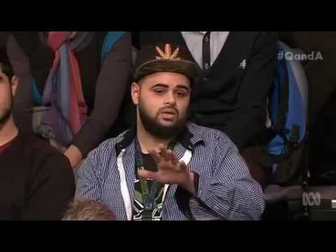 Zaky Mallah on Q&A ABC (whole statement and responses from the panel)