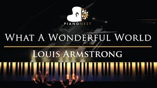 Louis Armstrong - What A Wonderful World - Piano Karaoke / Sing Along Cover with Lyrics