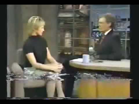 1994  Ellen Barkin flirts and tells a joke that makes Dave squirm