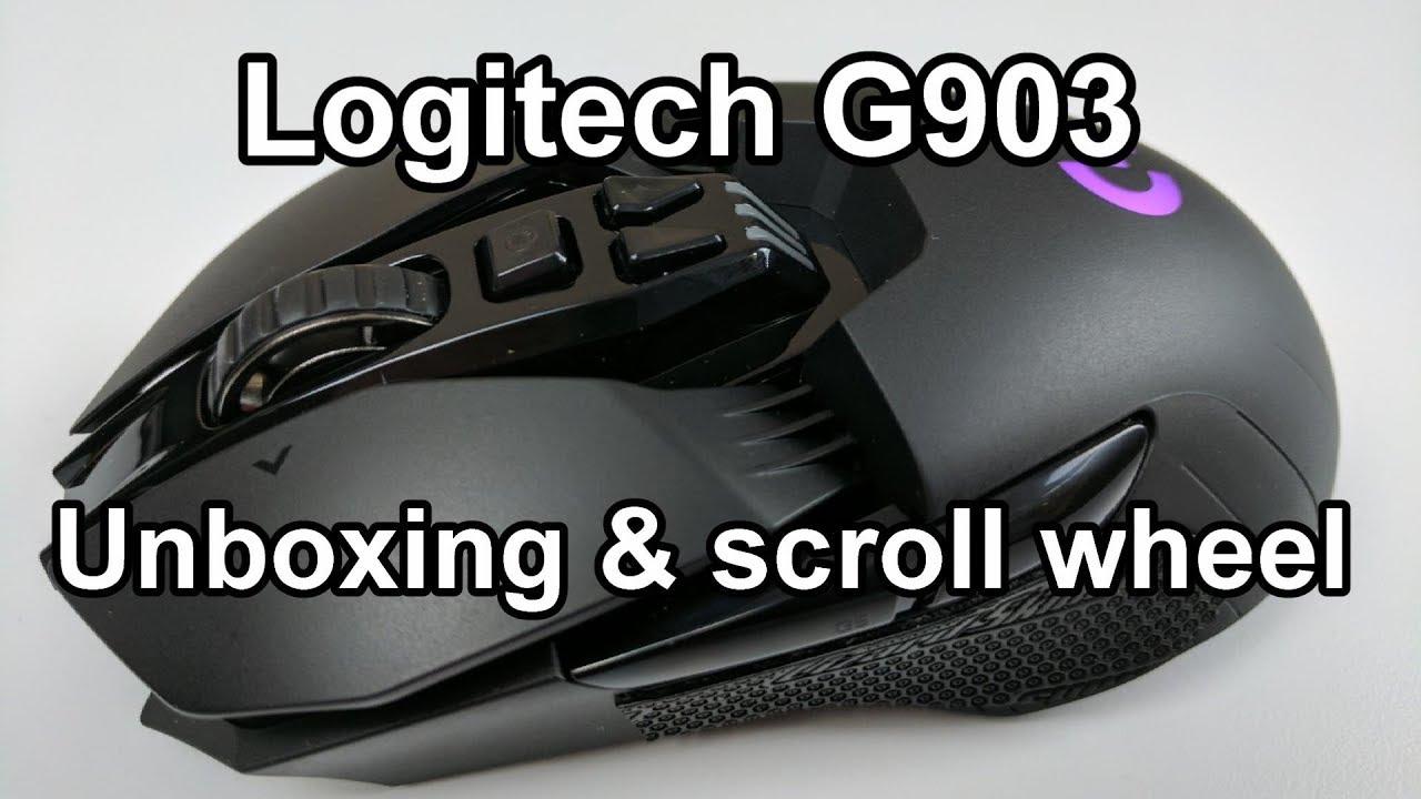 Logitech G903 unboxing & scroll wheel