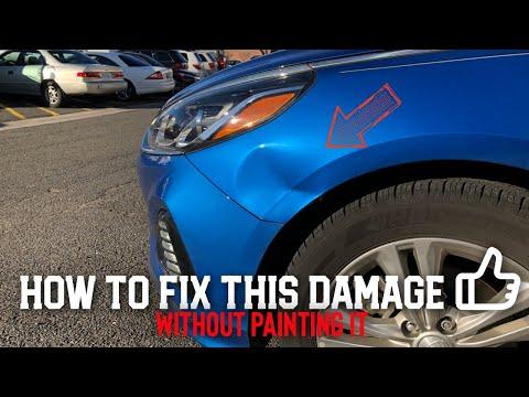 Hyundai Sonata Fender Smash | Paintless Dent Repair