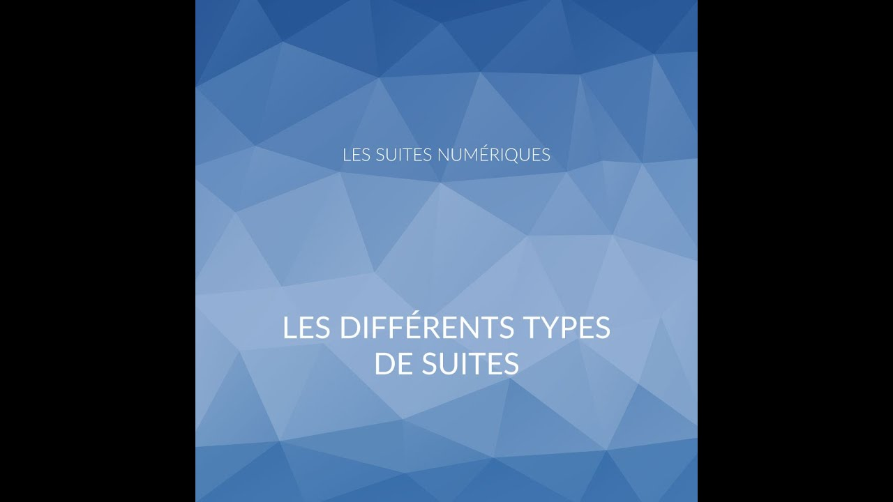 Les suites num riques les diff rents types de suites - Differents types de poubelles ...
