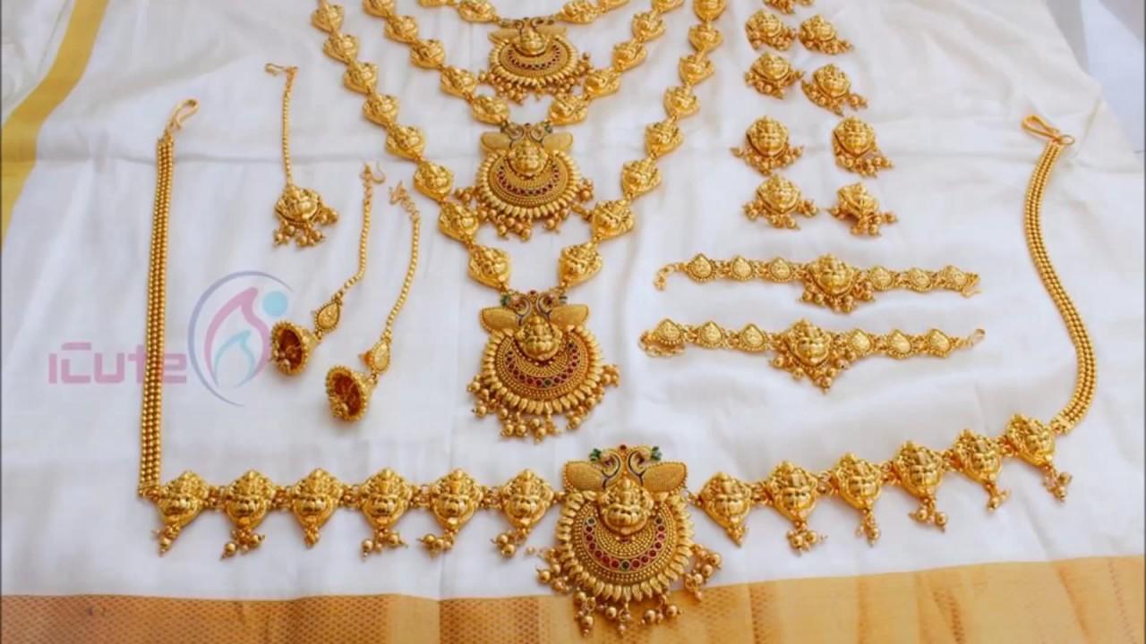 latest 1gram gold bridal set YouTube