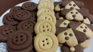 Песочное печенье на желтках Рецепт печенья Печенье ПУГОВИЦЫ и Печенье ПЁСИКИ