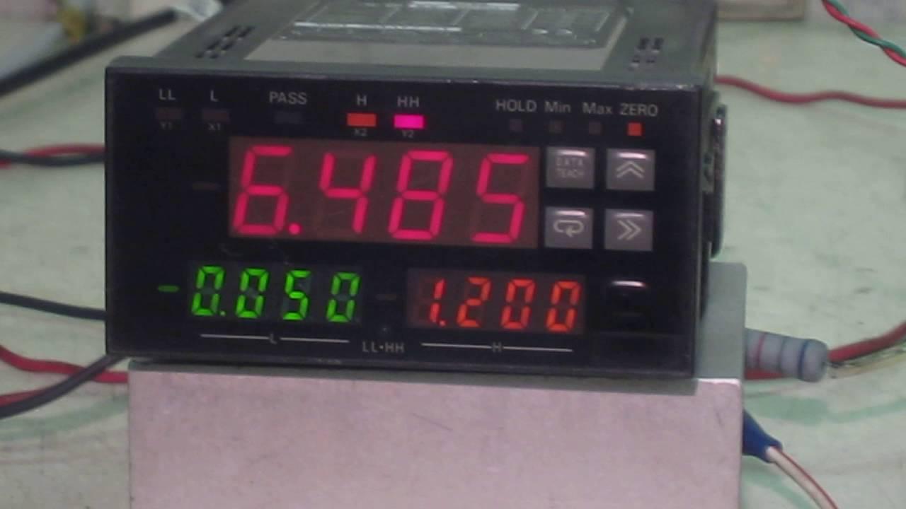 Omron Digital Panel Meter : Omron k tx ad b l digital panel meters 動作確認 youtube