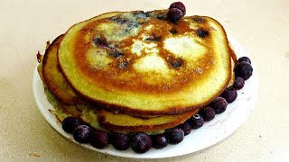 HOW TO MAKE HOMEMADE BLUEBERRY PANCAKES