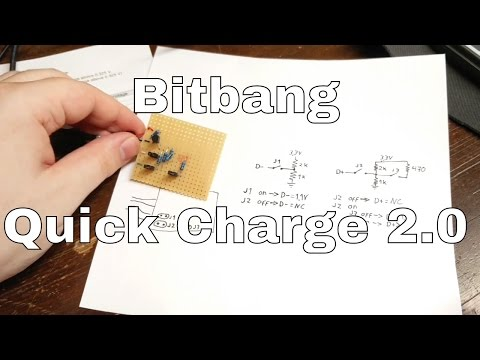 How To Bitbang Quick Charge 2.0 - Without ICs