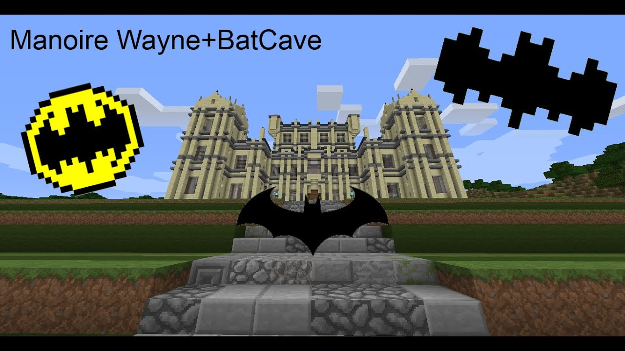 Map Minecraft BATMAN-(batcave-manoire wayne) - YouTube