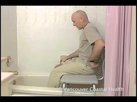 Farsi Bathing Using A Tub Transfer Bench Youtube