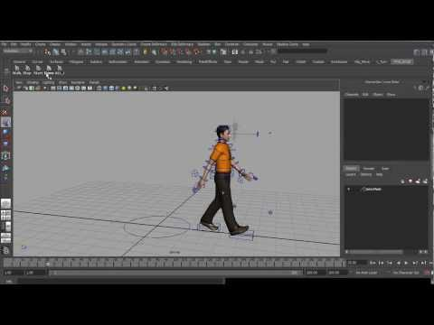 Animation MAYA Mel Script For All Rigged Character