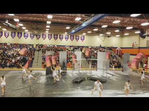 Station Camp High School Winter Guard performing XXV at Summit High School