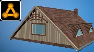 Комплексное моделирование крыши в 3dsMax