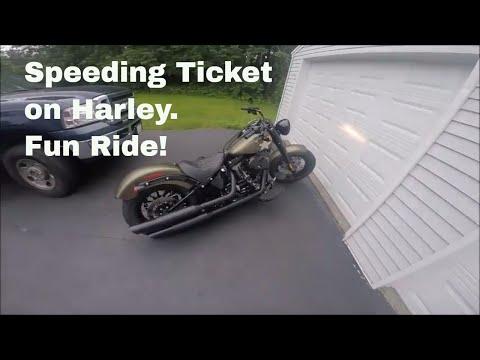 Speeding Ticket on Harley! First Ride with Gopro!