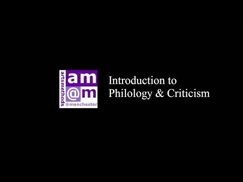 Introduction to Philology and Criticism