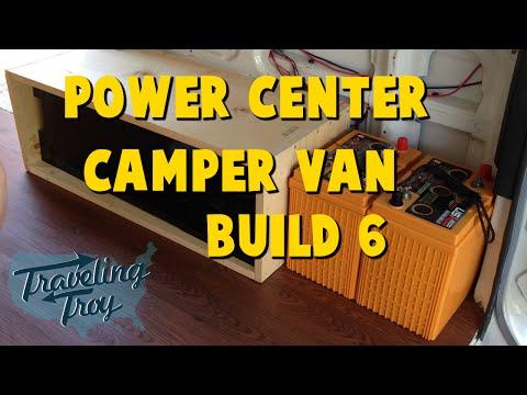 Astro Camper Van Build 6 - Power Center - Batteries - Shore Power