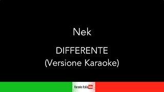 Nek - Differente (Base Musicale Karaoke Cover)