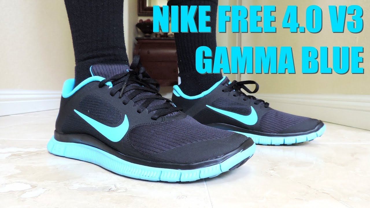 On Feet 3  Nike Free 4.0 V3  Gamma Blue  On Feet 3  Flechette Music   Niclacoste  2014 - YouTube