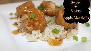 Sweet & Savory Apple Meatballs