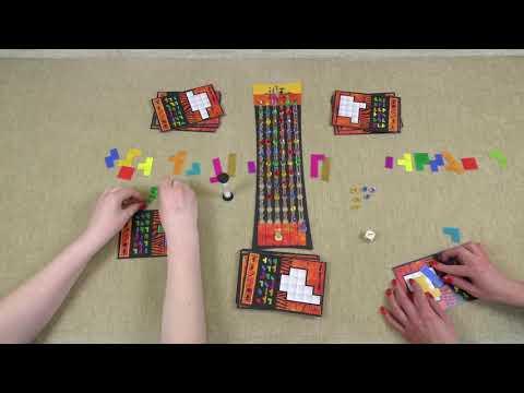 Настольная игра - Убонго (партия на двоих).  Ubongo Board Game.