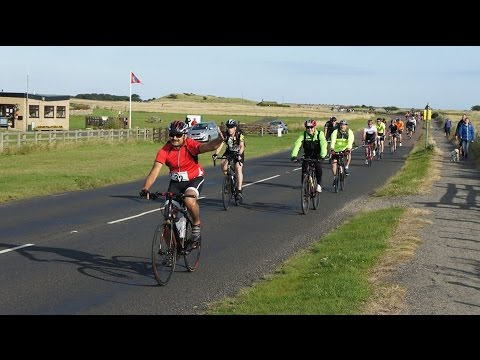 The Great North Bike Ride  2015 (camera at Beadnell, Warkworth and Tynmouth)