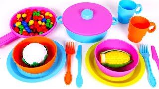 Playing Kitchen and Cooking with Toys for Kids