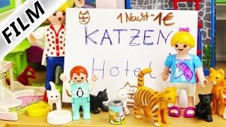 Playmobil Film deutsch | EMMAS KATZEN HOTEL | Haustiere in der Luxusvilla Kinderserie Familie Vogel
