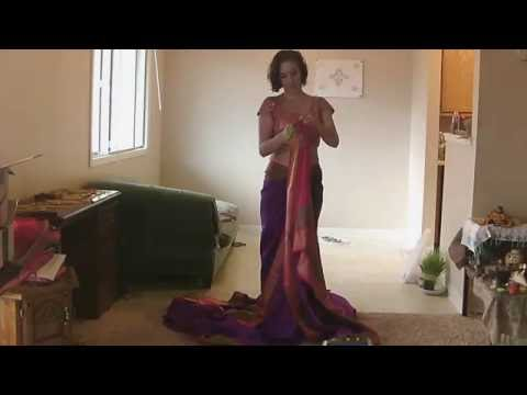 How to Drape Nauwari (Nauvari) in Peshwai/Brahmini Style Saree (English)