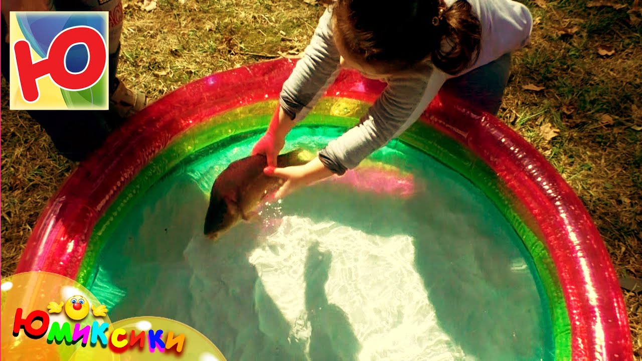 рыбалка бассейн с детьми