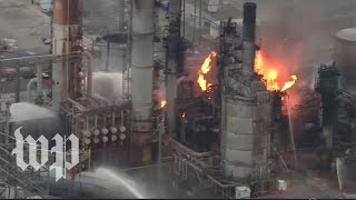 Watch live: Fire breaks out at Philadelphia refinery after massive explosions
