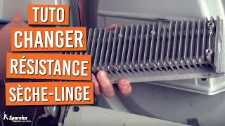 Comment changer la résistance d'un sèche-linge ?