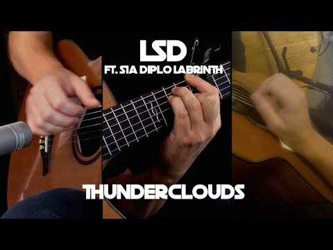 Kelly Valleau - Thunderclouds (LSD Ft. Sia, Diplo, Labrinth)  Fingerstyle Guitar