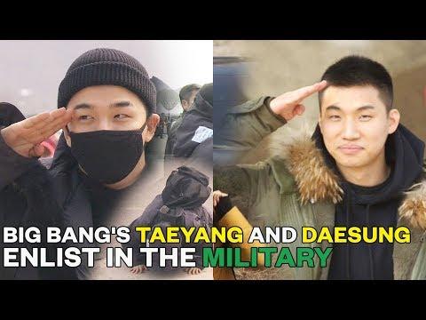 Big Bang's Taeyang and Daesung enlist in the military