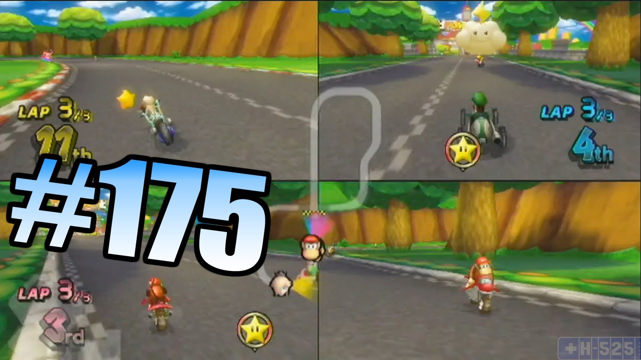 wii have fun 175 mario kart wii game 9 youtube. Black Bedroom Furniture Sets. Home Design Ideas