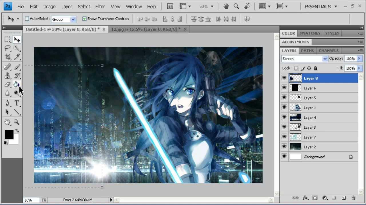 Speed art anime background youtube - Anime background for youtube ...