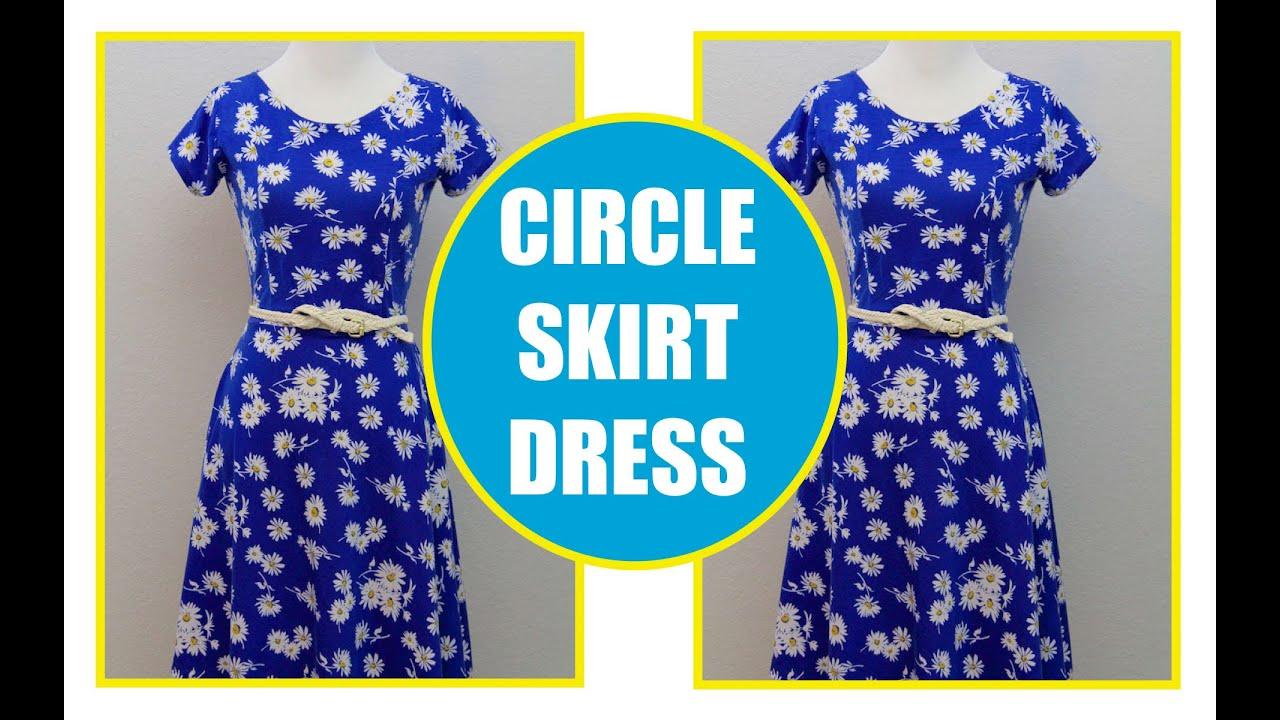 Diy circle skirt dress skater dress youtube bankloansurffo Image collections