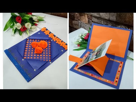 Valentines day card handmade with slider photo frame / How to make Valentine day card /Birthday Card