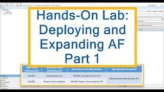 OSIsoft Hands-on-Lab: Bereitstellen von AF-Teil 1 - Bauen Sie Ihre Erste Website