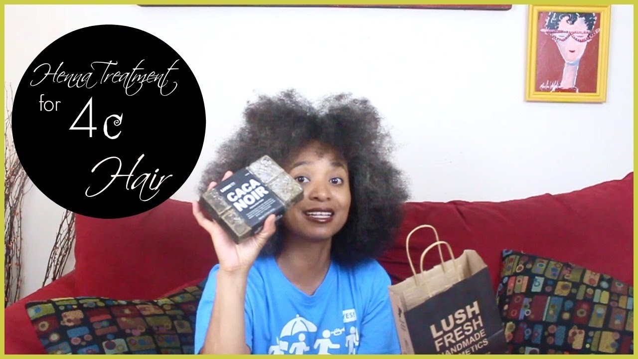 Lush S Henna Hair Treatment Caca Noir On 4c Hair Youtube