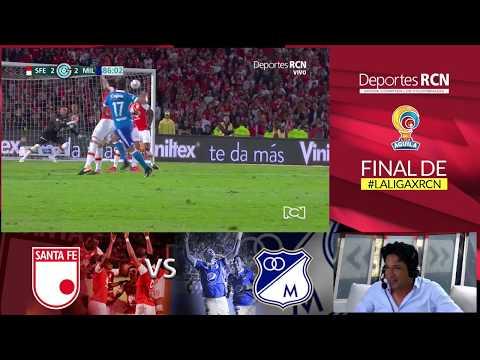 El gol de Henry Rojas narrado por Antonio Casale: estrella 15 de Millonarios