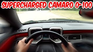 Supercharged 2010 Camaro SS 0-100 Blast [HD] (GoPro HD Hero)
