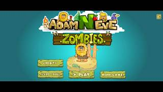 Adam and Eve: Zombies ► АДАМ ПРОТИВ ЗОМБИ КОТОВ ► ФЛЭШ ИГРЫ