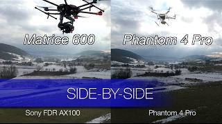 Le Phantom 4 Pro comparé au Matrice 600