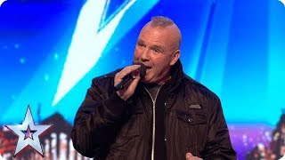 OMG! Security guard Brian hits some SERIOUSLY HIGH notes! | Auditions | BGT 2018
