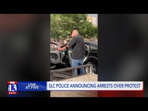 SLC Police screening charges against bow and arrow-wielding man during downtown protest