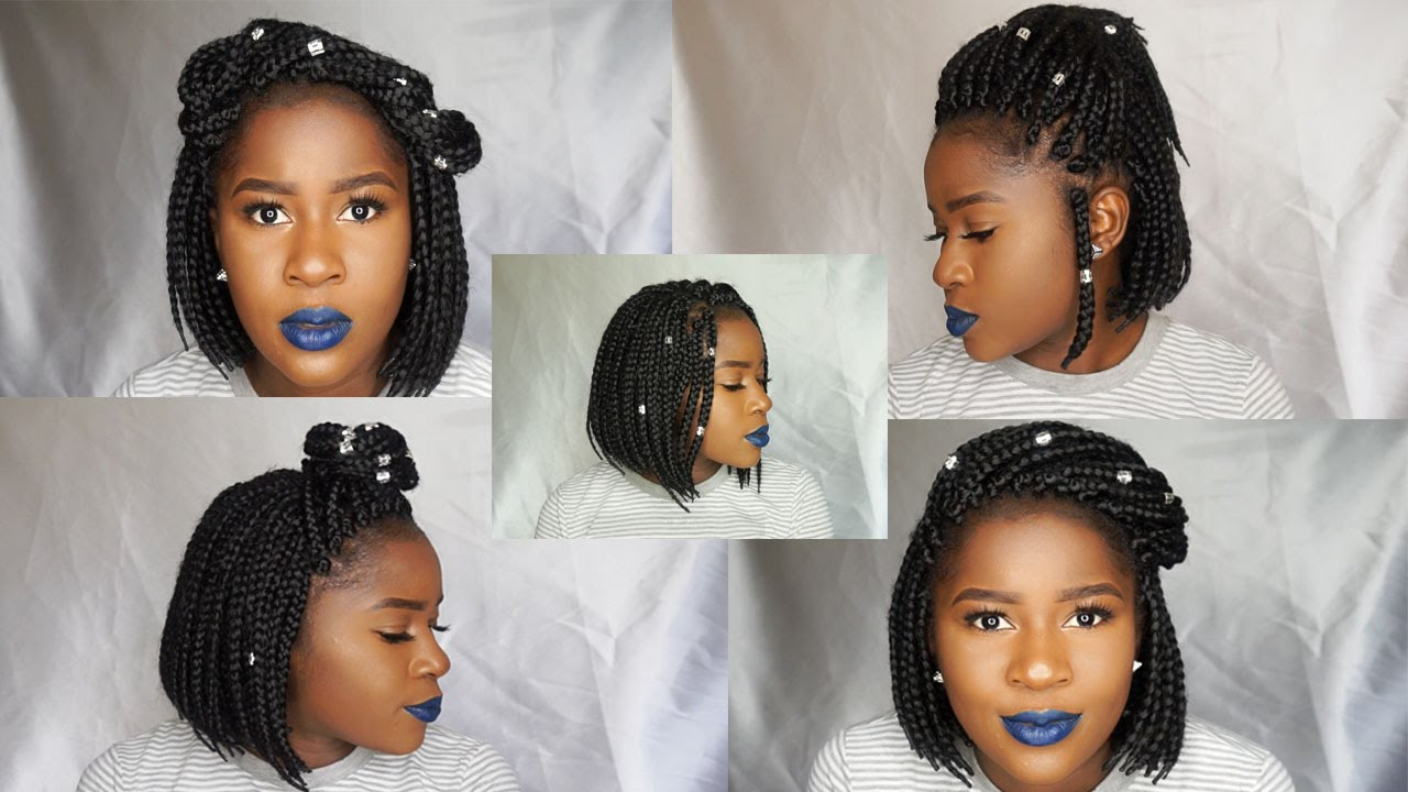 How to Style a Box Braid Bob 8 Ways!!!|Mona B. - YouTube