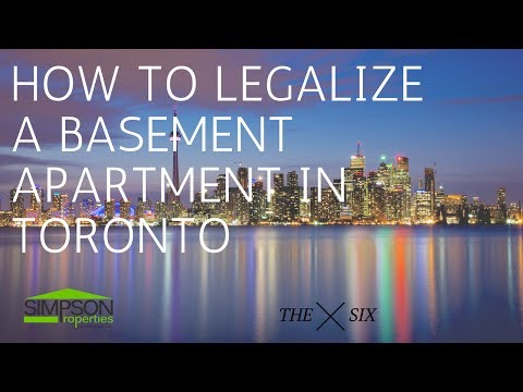 HOW TO LEGALIZE A BASEMENT APARTMENT IN TORONTO