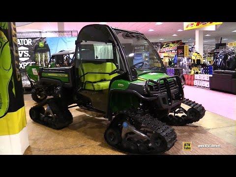 2016 John Deere Gator XUV 855D Diesel with Camoplast T4S Trail Kit - Walkaround