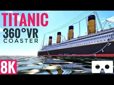[8K 360 VR Video] Titanic Coaster Simulator for Google Cardboard 360° 3D VR split screen SBS